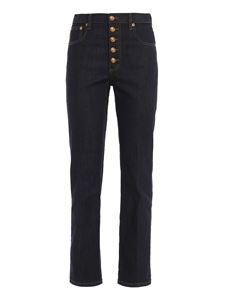 Tory Burch - Jeans in denim elasticizzato blu
