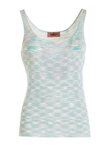 Missoni - Striped patterned top in light green