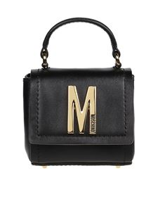 Moschino - Leather mini cross body bag in black