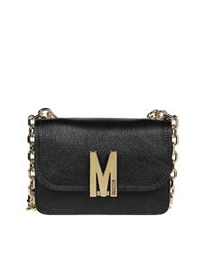 Moschino - Monogram logo cross body bag in black