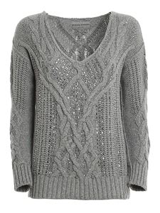 Ermanno Scervino - Crystal embellished wool blend sweater