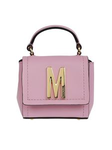 Moschino - Leather mini cross body bag in pink