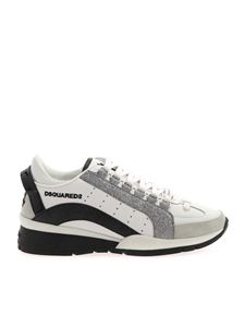 Dsquared2 - Sneakers Lace Up Low Top bianche con glitter