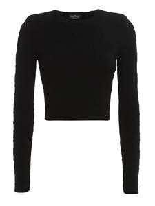Elisabetta Franchi - Embossed fabric top and skirt in black