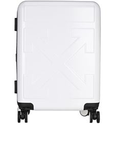 Off-White - Trolley con logo Arrows bianco