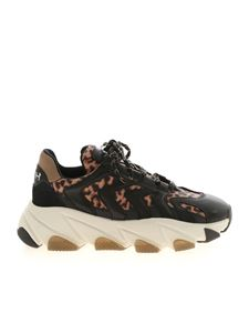 Ash - Extreme animel print sneakers in black