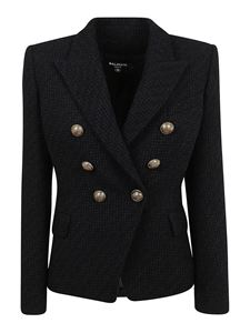 Balmain - Blazer in tweed nero