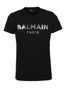 Balmain - Foil logo T-shirt in black