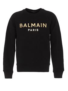 Balmain - Logo lettering cotton sweatshirt in black