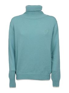 MSGM - Cashmere wool blend sweater in light blue