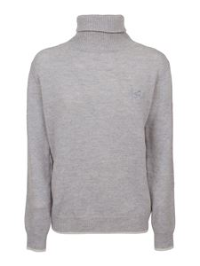 MSGM - Mélange cashmere wool blend sweater in grey