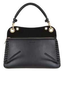 See by Chloé - Ellie structured leather bag in black