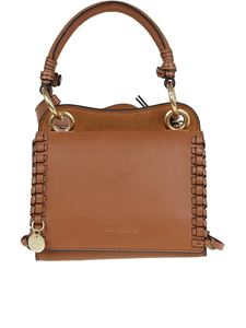 See by Chloé - Whipstitch detail tote in brown