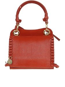 See by Chloé - Whipstitch detail tote in red