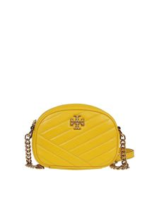 Tory Burch - Kira Chevron small leather camera bag in yellow