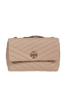 Tory Burch - Kira Chevron small convertible bag in beige