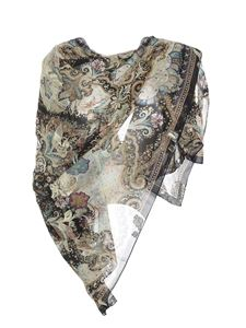 Etro - Bombay print stole in black and beige
