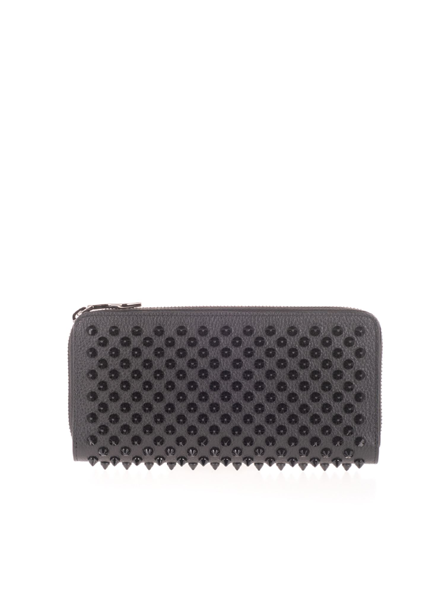 Christian Louboutin STUDDED WALLET IN BLACK