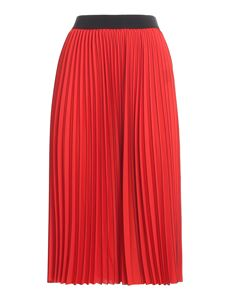 Patrizia Pepe - Tech fabric pleated midi skirt