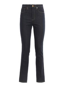 Tory Burch - Straight leg jeans in dark blue