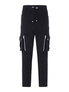 Balmain - Zippers detailed cargo pants in black