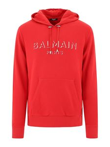 Balmain - Side zippers sweatshirt in red