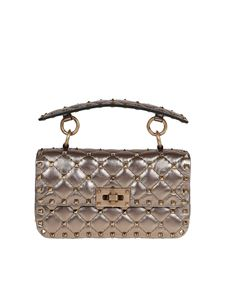 Valentino - Rockstud Spike small bag in bronze colour