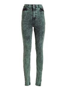 Red Valentino - Marble effect denim skinny jeans in green