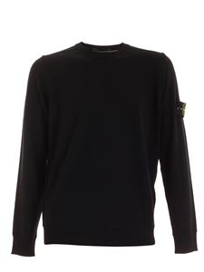 Stone Island - Logo patch crewneck pullover in black