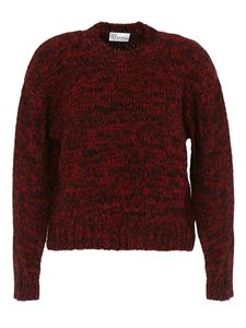 Red Valentino - Red Girl embroidery alpaca blend sweater in black and red