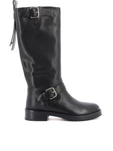 Red Valentino - Smooth leather boots in black