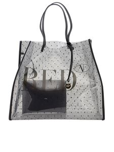Red Valentino - Point d'esprit tulle tote in black