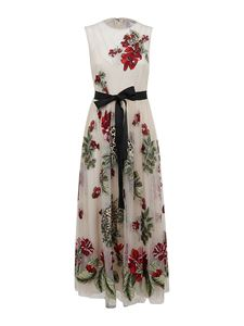 Red Valentino - Felines in a Flower Jungle dress in white