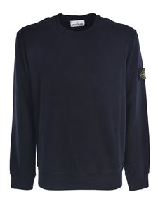 Stone Island - Logo patch sweatshirt in blue