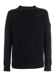 Stone Island - Logo patch pullover in black