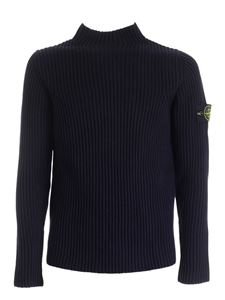 Stone Island - Ribbed pullover in blue
