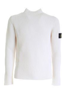 Stone Island - Ribbed pullover in white