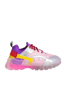 Stella McCartney Kids - Pink color block sneakers