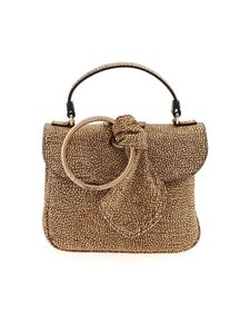 Borbonese - OP print brown and beige bag featuring bow