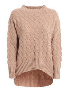 Drumohr - Cable-knit crewneck in pink