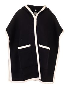 Burberry - Cape in black with logo on the back
