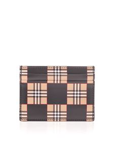 Burberry - Cards holder with checkerboard print