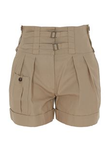 Dolce & Gabbana - High rise shorts with buckles in beige