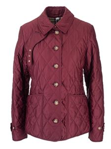 Burberry - Diamond quilted jacket in burgundy color