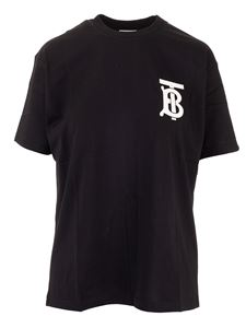 Burberry - T-shirt in black with Monogram