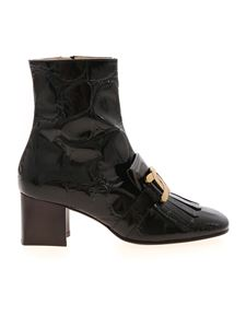 Tod's - T60 fringed ankle boots in black