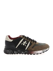 Premiata - Lander sneakers in black and Army green