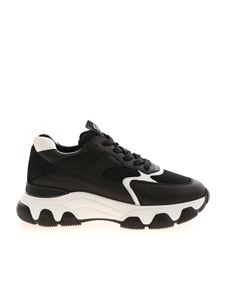 Hogan - Hyperactive leather and fabric sneakers in black