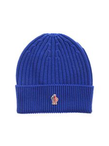 Moncler Grenoble - Ribbed beanie in blue