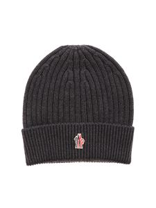 Moncler Grenoble - Ribbed beanie in grey